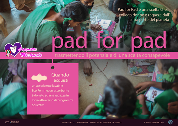 progetto pad for pad Eco Femme
